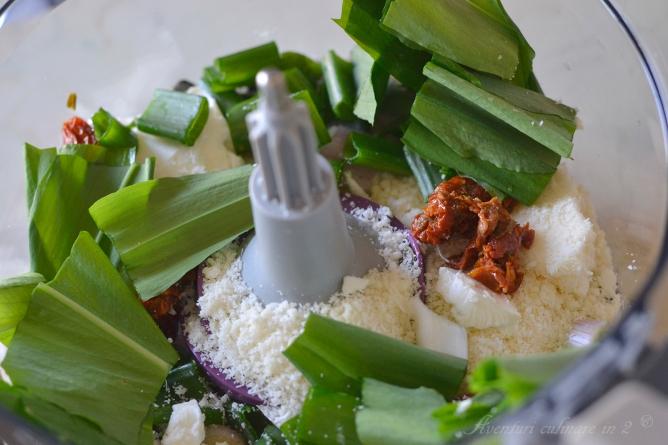 Pesto de leurda preparare 1