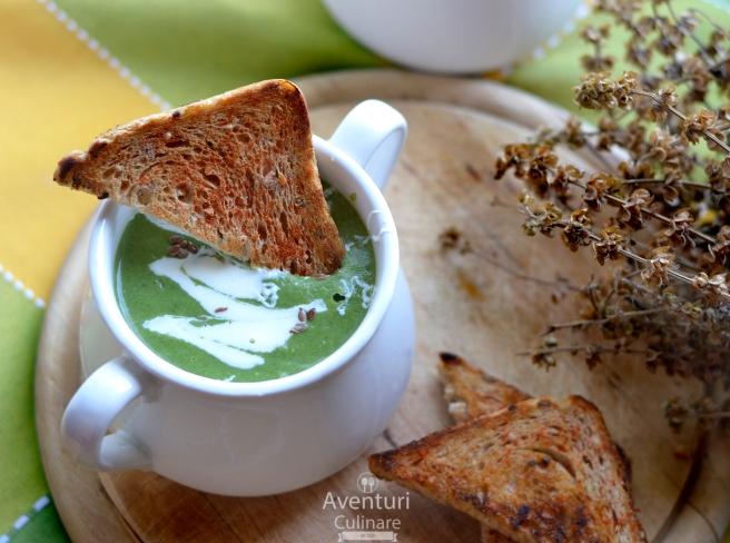 Supa-crema broccoli si spanac